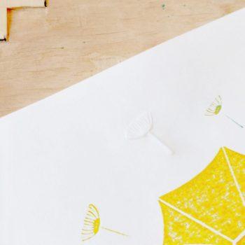 Detail: Dandelion tuft embossing